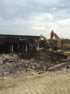 Demolition of Walcrest reservoir. Photo taken 3/7/2016