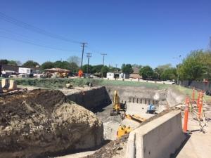 Pump station excavation, 040416