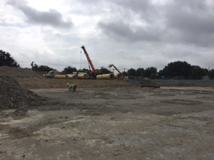 Work continues at Walcrest as the construction team lays a firm foundation of rock anchors and concrete for the reservoir. Pipes also have arrived to connect the reservoir,