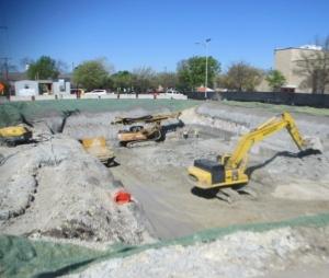 Pump station excavation-031816